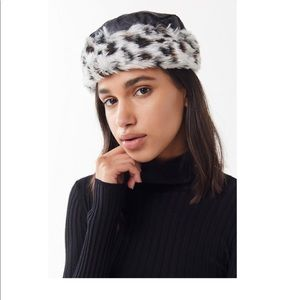 Urban Outfitters Black Quilted Animal Hat